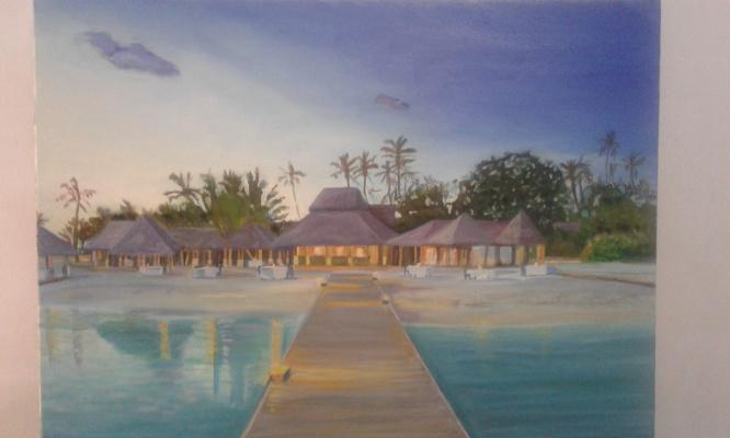 Karolina Valeryevna Pavlenko. Miami oil painting
