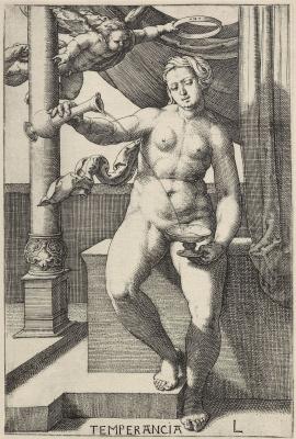 Lucas van Leiden (Luke of Leiden). Series Of Virtues, Moderation