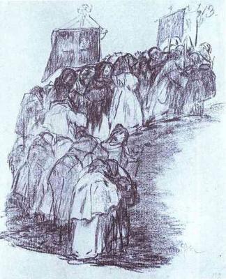 Франсиско Гойя. Шествие монахов