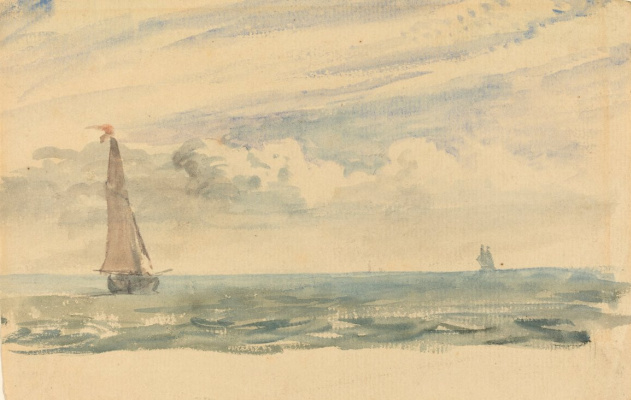 John Constable. Marine landscape with two boats