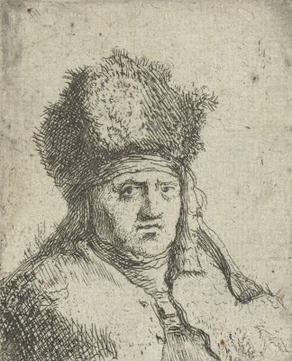 Jan Lievens. Portrait of a man in a high fur cap