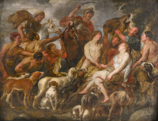 Jacob Jordaens. Meleager and Atalanta