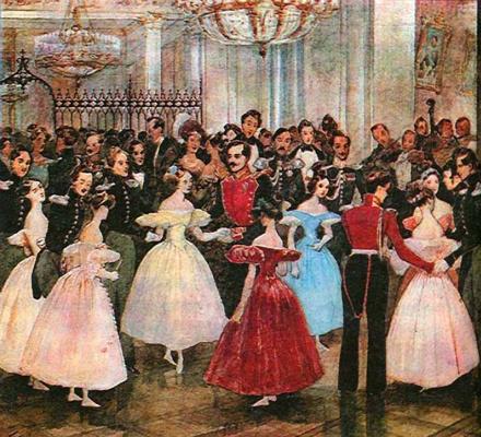 Григорий Григорьевич Гагарин. «Бал у княгини М.Ф.Барятинской» 1830-е