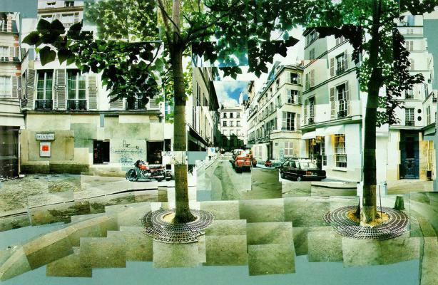David Hockney. The Area Of Fürstenberg. Paris. 7-9 Aug