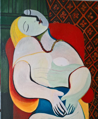 Angelina Alexandrovna Ladeyshchikova. A copy of the work of Pablo Picasso. Sleep