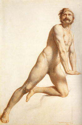 William Malredi. Academic study of a Nude