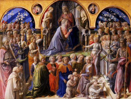 Fra Filippo Lippi. The Coronation Of Mary (Coronation Marigny)