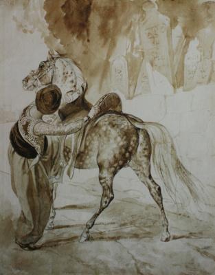 Карл Павлович Брюллов. Турок, садящийся на коня