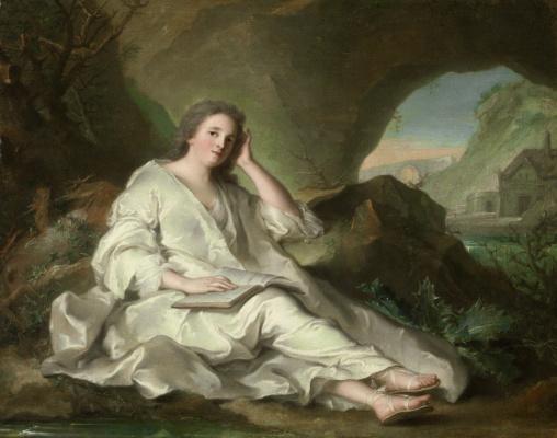 Жан-Марк Натье. Лежащая женщина в образе святой Марии Магдалины.