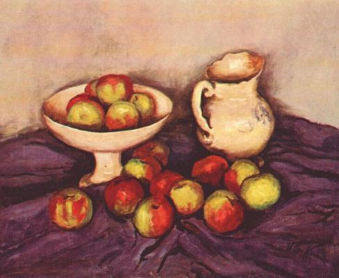 Walt Kun. Still life with apples