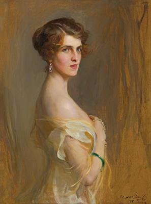 Philip De Alixis Laszlo. Portrait of Viscountess Chaplin, nee Gladys Wilson. 1915