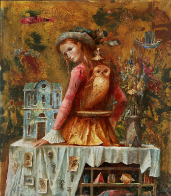 Sergey Nikolayevich Lukyanov. Girl with a golden owl