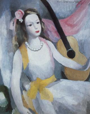 Marie Lorenzen. Woman with guitar