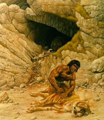 Франсуа Мивилле-Дешенес. Пещера