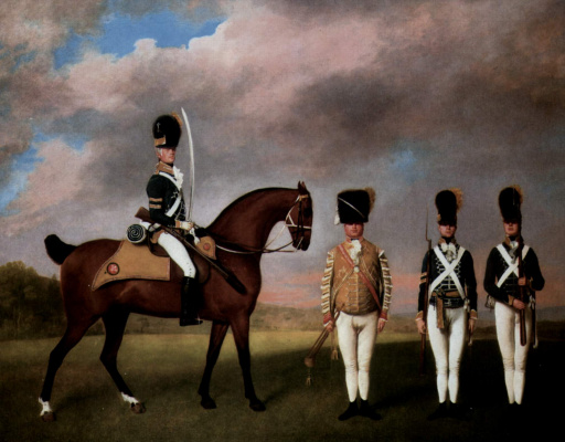 George Stubbs. Soldiers of the 10th Dragoon regiment