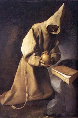 Франсиско де Сурбаран. Св. Франциск в молитве