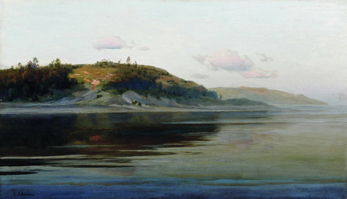 Isaac Levitan. Summer evening. River