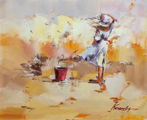 Savely Kamsky. Children on the seashore. N19