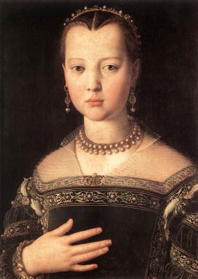 Agnolo Bronzino. Portrait of Marie de Medici