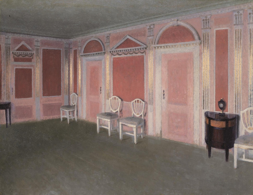 Vilhelm Hammershøi. Interior in the style of Louis Seis