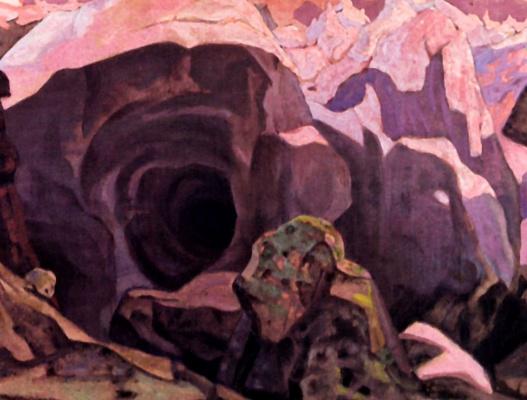 "Nicholas Roerich. Cliffs Of Ronda. Design for ""Per Gunta"" Ibsen"