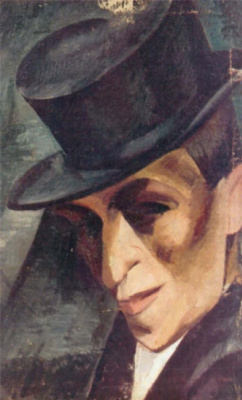 Александр Александрович Осмеркин. Портрет неизвестного в цилиндре