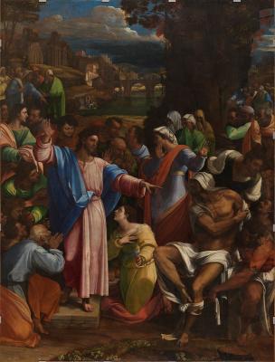 Себастьяно дель Пьомбо. Воскрешение Лазаря