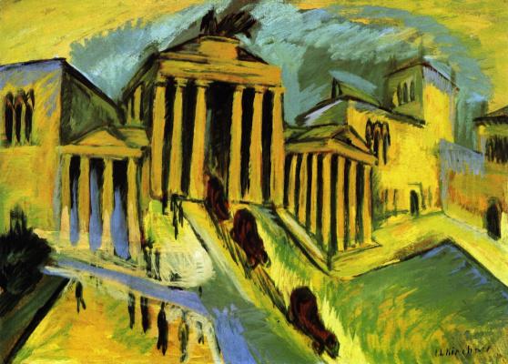 Ernst Ludwig Kirchner. The Brandenburg gate in Berlin