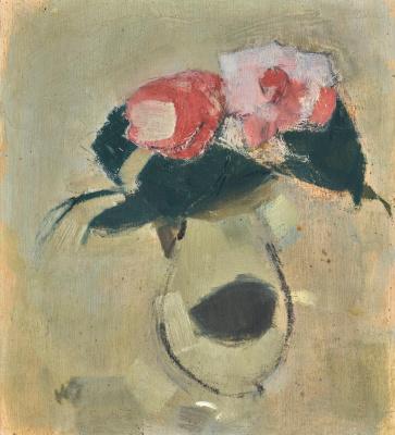 Helena Sophia Scherfbek. Camellia in a vase