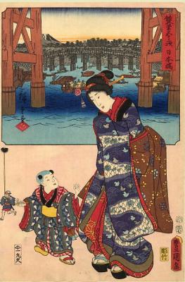 Хиросигэ Кунисада. Гейша