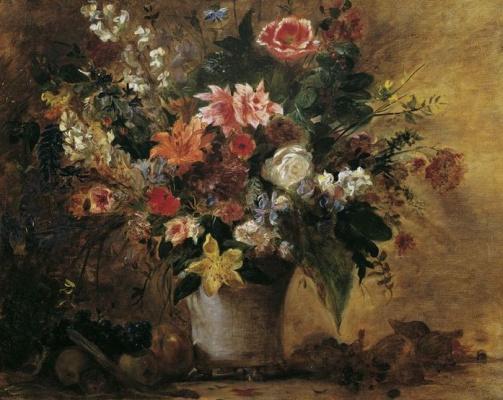 Эжен Делакруа. Натюрморт с цветами и фруктами