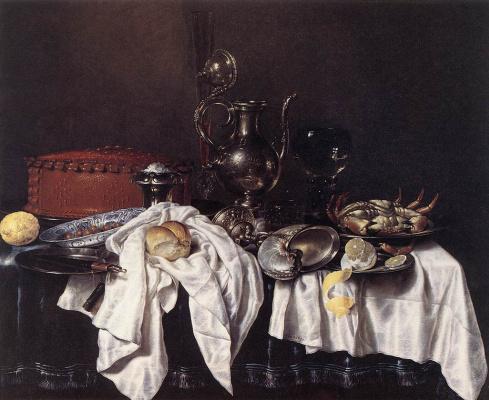 Willem Claesz Heda. Still life with lobster