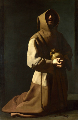 Francisco de Zurbaran. Saint Francis in prayer