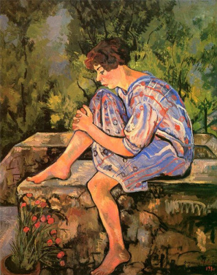 Suzanne Valadon. Sitting young woman