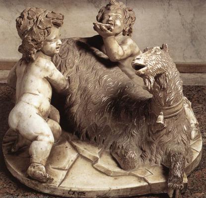 Джованни Лоренцо Бернини. Младенец Юпитер, фавн и коза Амалфея