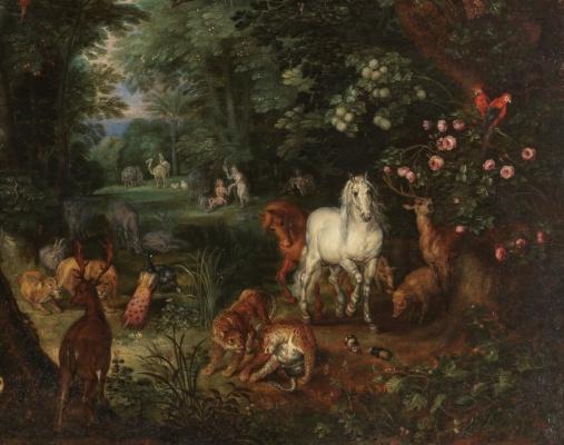Peter Brueghel The Younger. Heaven on earth. Fragment III