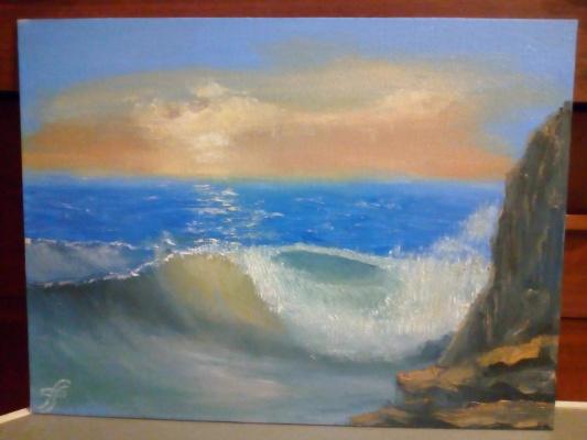 Andrei Filippovsky. Evening surf