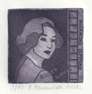 """Valeria Evgenievna Salimon. """"Bookplate Betty Davis"""""""