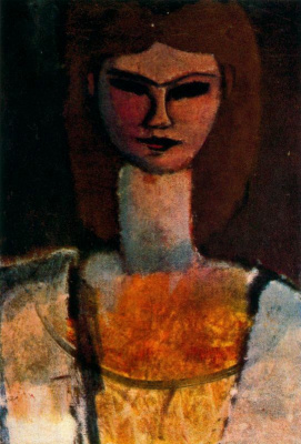 Amedeo Modigliani. Bust of a young woman