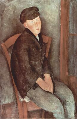 Амедео Модильяни. Сидящий мальчик в шляпе