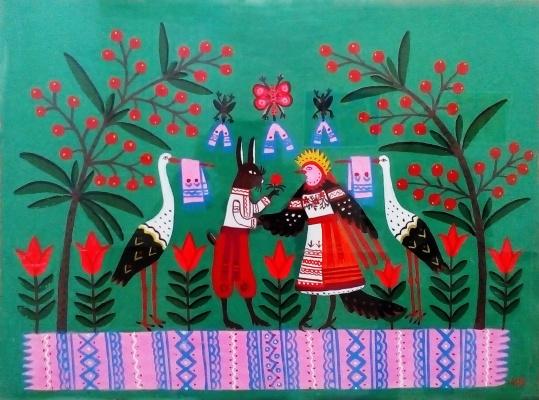 Мария Авксентьевна Примаченко. Свадьба зайца с сорокой