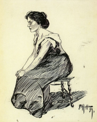 Edward Hopper. Seated woman (sketch)