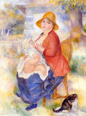 Пьер Огюст Ренуар. Дитя у груди (Материнство)