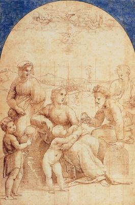 Рафаэль Санти. Святое семейство со святыми Захарием и Елизаветой