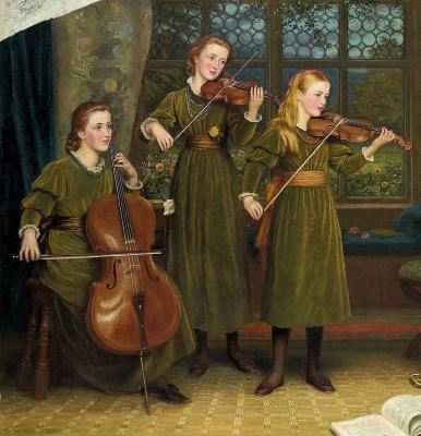Arthur Hughes. Home quartet. Fragment