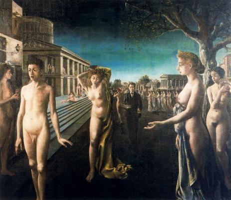 Paul Delvo. Nude garden
