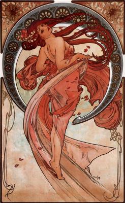 Alphonse Mucha. Art: Dance