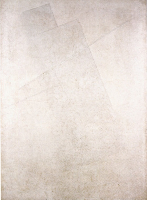 Kazimir Malevich. Vanishing white surface