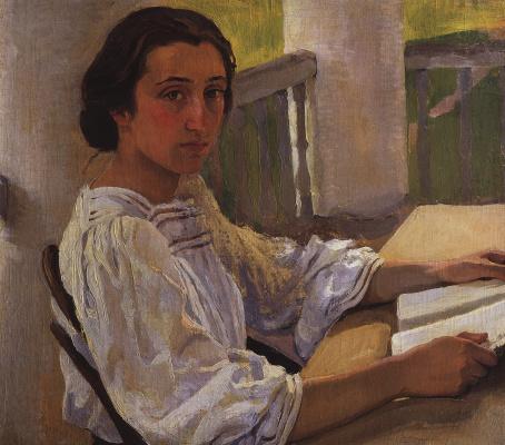 Зинаида Евгеньевна Серебрякова. Портрет М. Е. Солнцевой, сестры художницы
