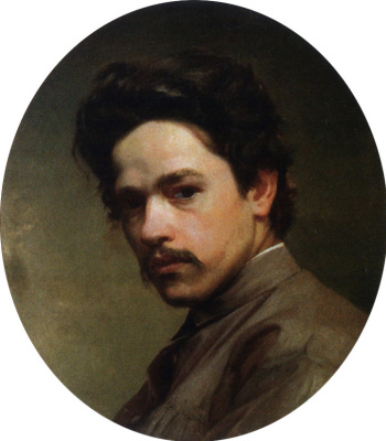 Nikolay Aleksandrovich Yaroshenko. A self-portrait. 1875